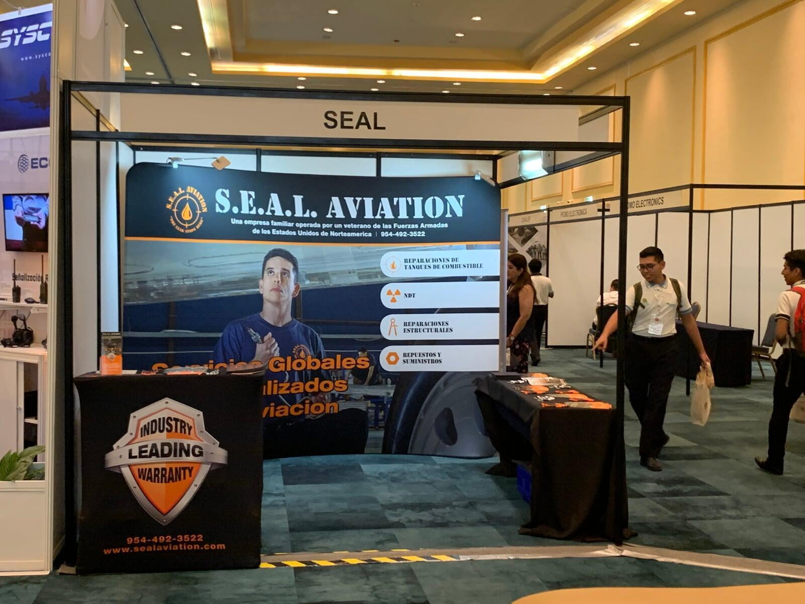 SEAL Aviation booth convention