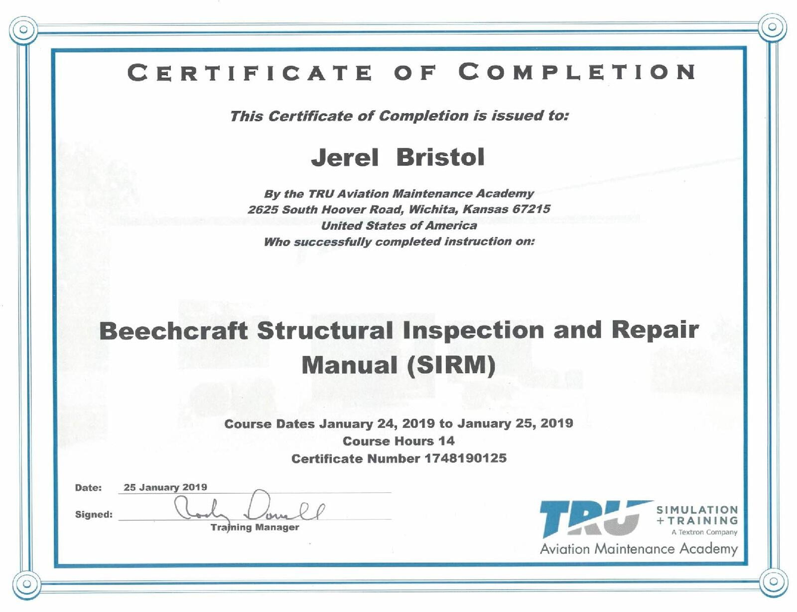 Beechcraft Structural Inspection and Repair Manual (SIRM)